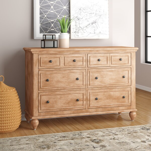 Romford 6 Drawer Double Dresser by Three Posts