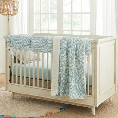 Stationary Crib Oak photo