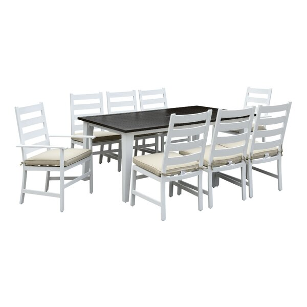 Halverson 9 Piece Dining Set by Highland Dunes