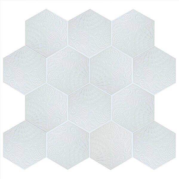 Soprano 8.63 x 9.88 Porcelain Field Tile in White by EliteTile