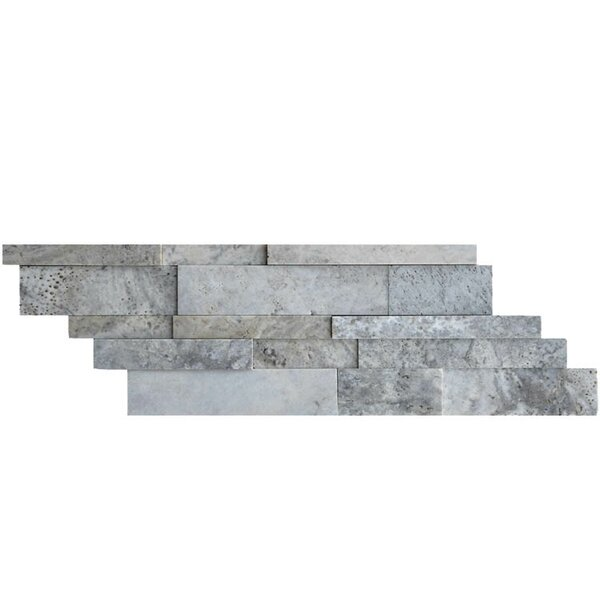 Honed Natural Stone Mosaic Tile in Silver by QDI Surfaces