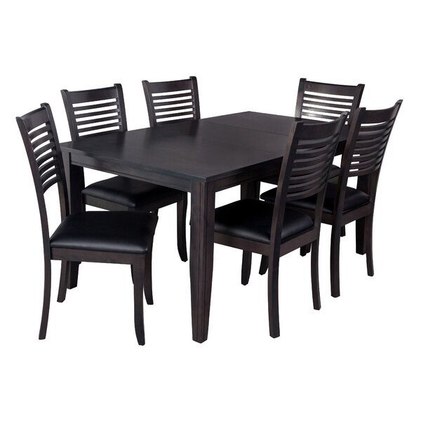 Aden 7 Piece Solid Wood Dining Set by TTP Furnish