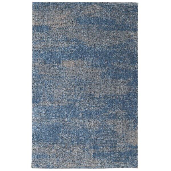 Feldman Blue Teal/Taupe Gray Area Rug by Williston Forge
