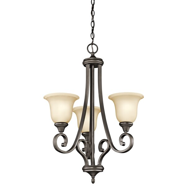 Bretton 3 - Light Shaded Empire Chandelier By Red Barrel Studio