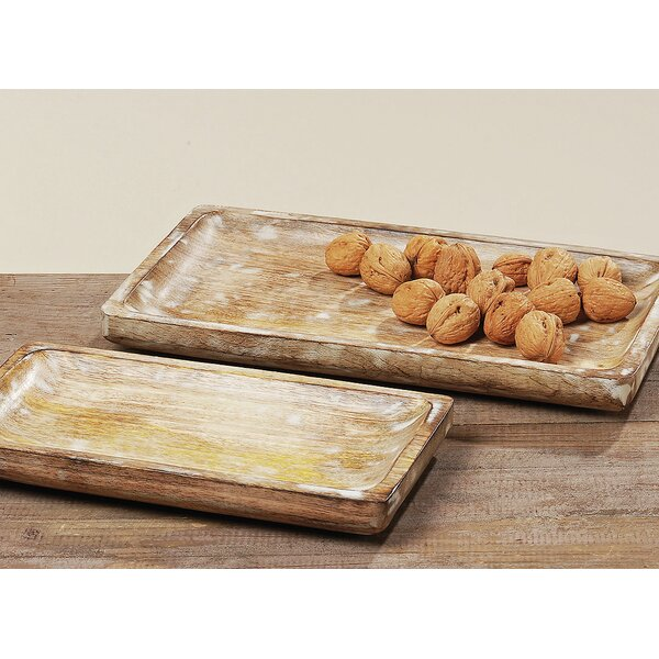 Wilhoit 2 Piece Serving Tray Set by Millwood Pines