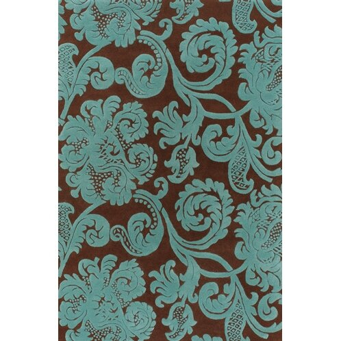 Jeffie Brown & Blue Area Rug by Darby Home Co
