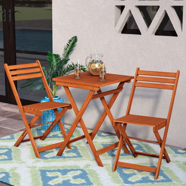 Altenwald Eucalyptus 3 Piece Folding Dining Set by Mistana