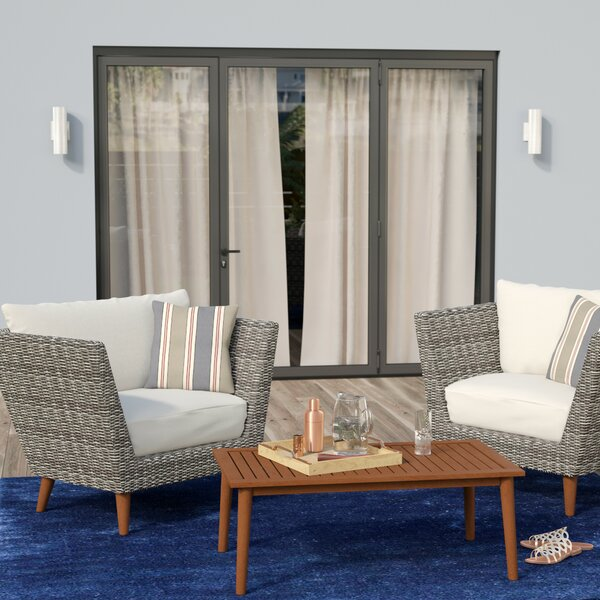 Newbury 3 Piece Conversation Set with Cushions by Langley Street