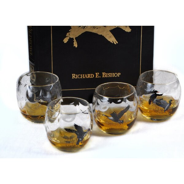 Waterfowl 11 Oz. Optic Roly Poly Glass (Set of 4) by Richard E. Bishop