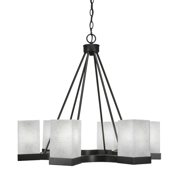 Karson 6-Light Shaded Geometric Chandelier By Ebern Designs