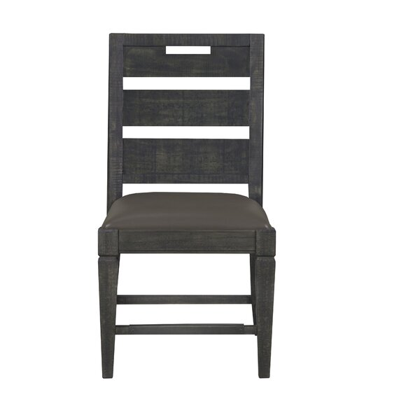 Jessie Solid Wood Ladder Back Side Chair (Set of 2) by Foundry Select Foundry Select