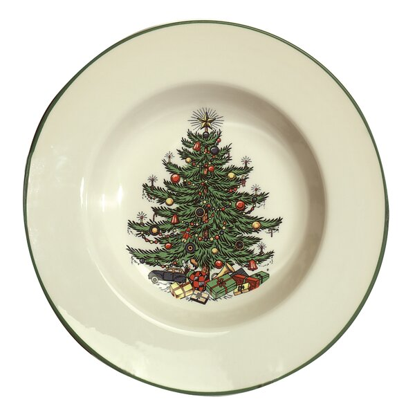 Original Christmas Tree Traditional Rim Soup Bowl by The Holiday Aisle