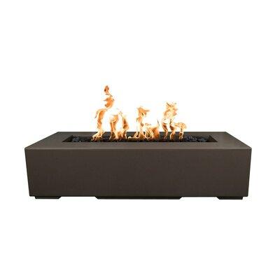 "The Outdoor Plus Regal Concrete Fire Pit  Finish: Chocolate, Size: 13"" H x 60"" W x 24"" D, Fuel Type: Natural Gas"