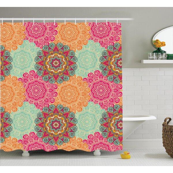 Delrick Decor Antique Mandala Shower Curtain by Bungalow Rose