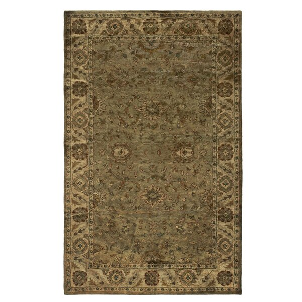 Unjha Hand-Tufted Olive Area Rug by Meridian Rugmakers