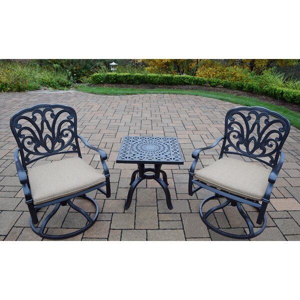 Waconia 3 Piece Dining Set with Cushions by Alcott Hill