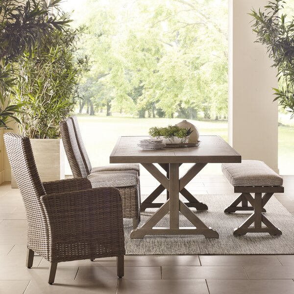 Reinaldo 4-Piece Bar Height Dining Set with Cushions by Greyleigh