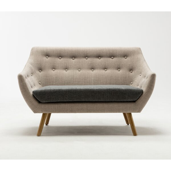 Looking for Westford  Dual Tone Tufted Loveseat By George Oliver Best Choices