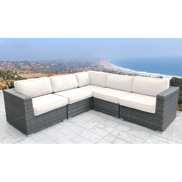 Eldora Patio Sectional With Cushions By Sol 72 Outdoor