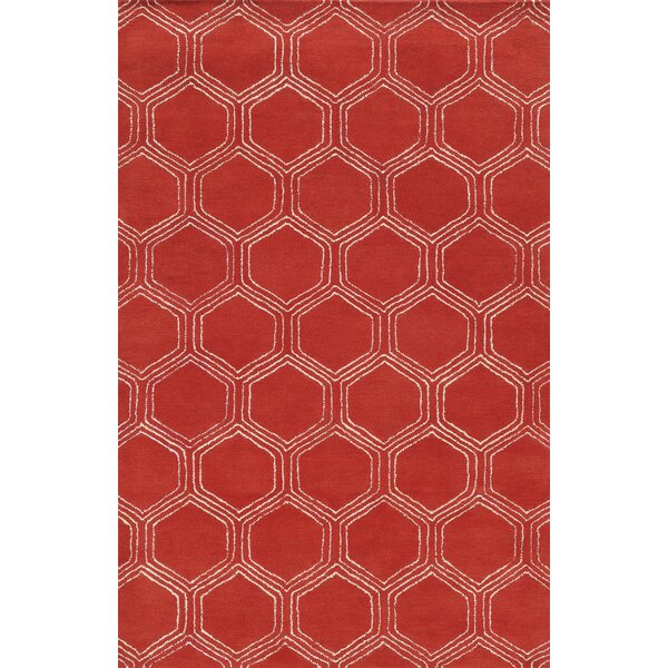 Sardinia Hand-Tufted Red Area Rug by Meridian Rugmakers