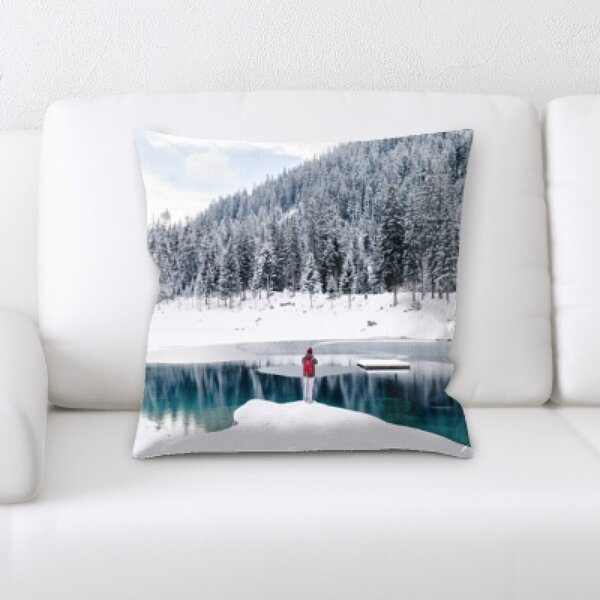 Winter Feeling (58) Throw Pillow by Rug Tycoon