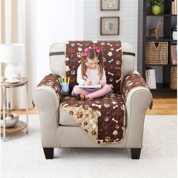 Printed T-Cushion Armchair Slipcover by Winston Porter