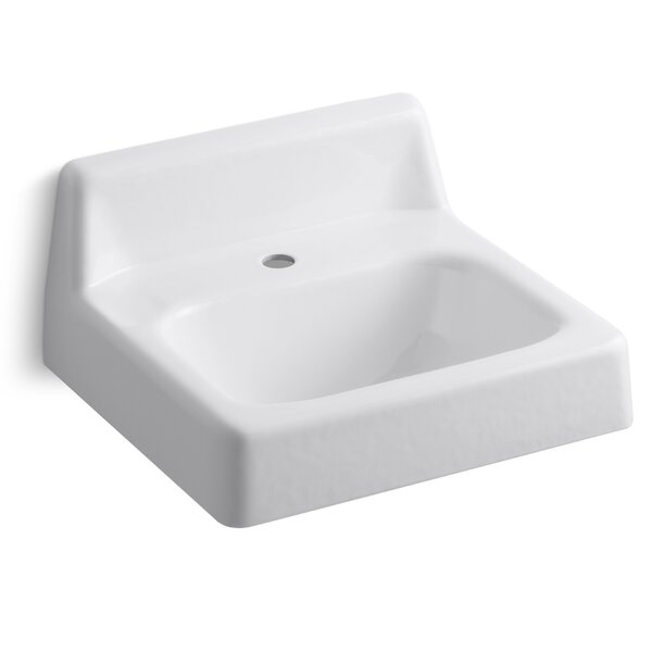 Hudson 20 Wall Mount Bathroom Sink by Kohler