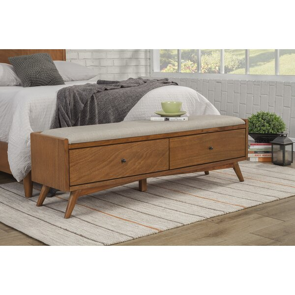 Parocela Wood Storage Bench by Langley Street