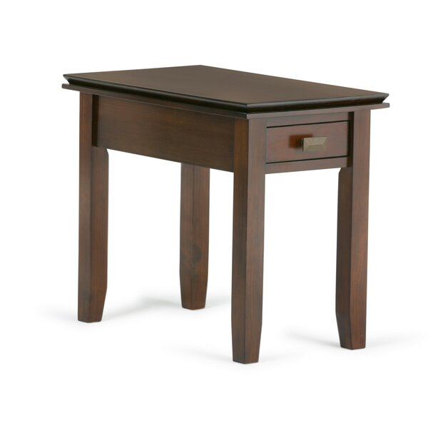 Gosport Narrow End Table with Storage by Three Posts