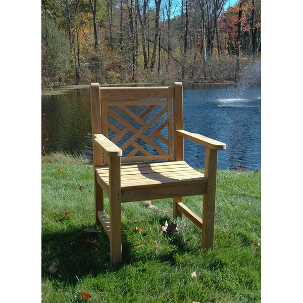 Chippendale Teak Patio Dining Chair by Regal Teak