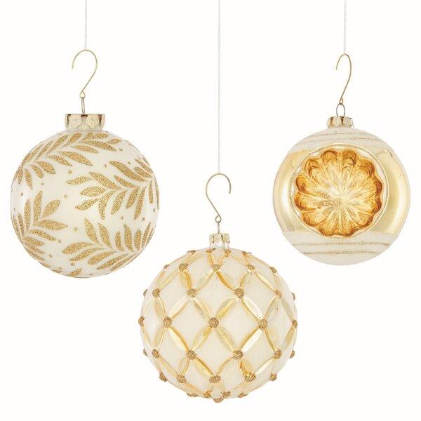 3 Piece Heirloom Ball Ornament Set by Everly Quinn