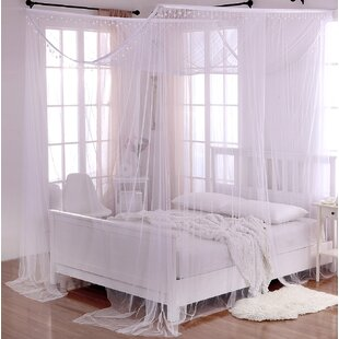 Roldao Crystal Sheer Panel Bed Canopy & Bed Canopies Youu0027ll Love
