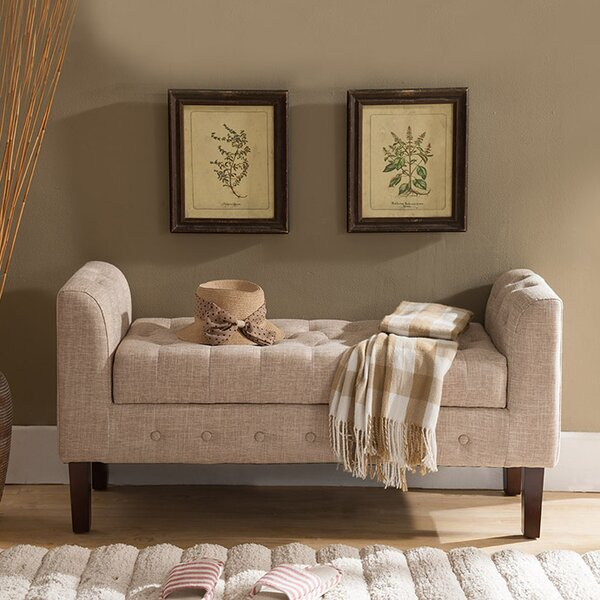 New Ashford Upholstered Storage Bench by Charlton