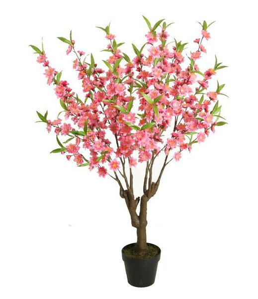 Decorative Artificial Peach Floral Blossom Tree in Pot by Northlight Seasonal