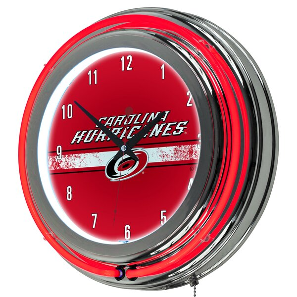NHL Neon 14.5 Wall Clock by Trademark Global