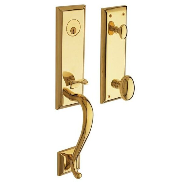 Stonegate Single Cylinder Handleset with Interior Knob and Emergency Egress by Baldwin