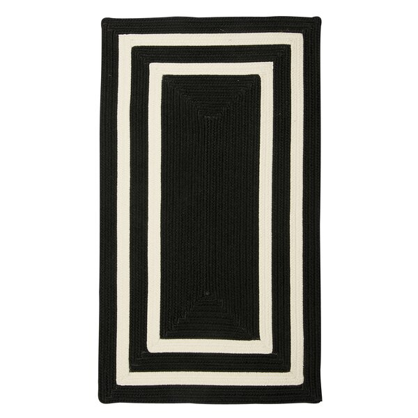 Marti Hand-Woven Indoor/Outdoor Black Area Rug by Bay Isle Home