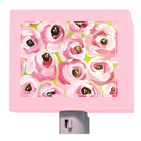 Pink Roses Night Light by Oopsy Daisy