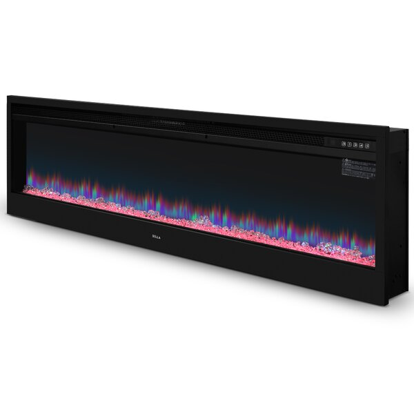 Brodhead Wall Mounted Electric Fireplace Insert By Winston Porter