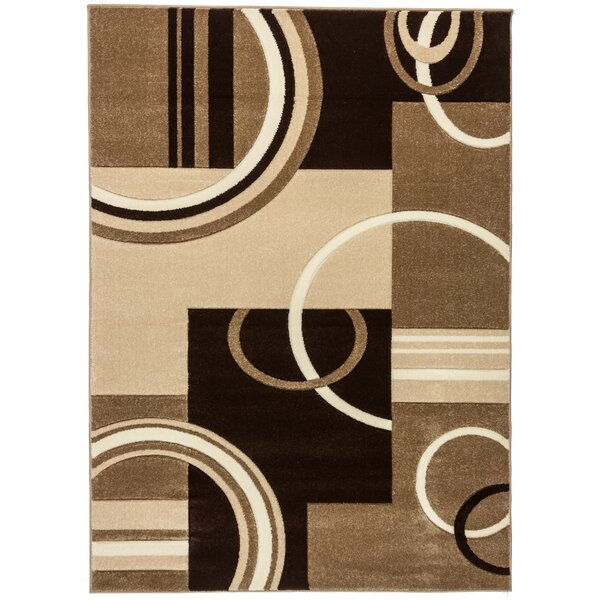 Ruby Galaxy Waves Contemporary Area Rug by Well Woven