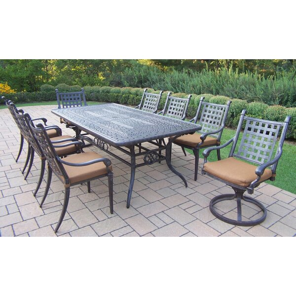 Vandyne 11 Piece Extendable Dining Set with Cushions by Darby Home Co