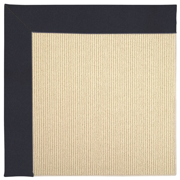 Lisle Machine Tufted Dark Navy Indoor/Outdoor Area Rug by Longshore Tides