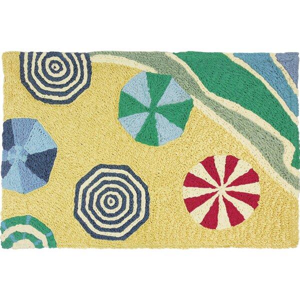 Blas Beachside Umbrellas Doormat by Highland Dunes
