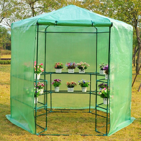 6.42 Ft. W x 6.2 Ft. D Greenhouse by Outsunny