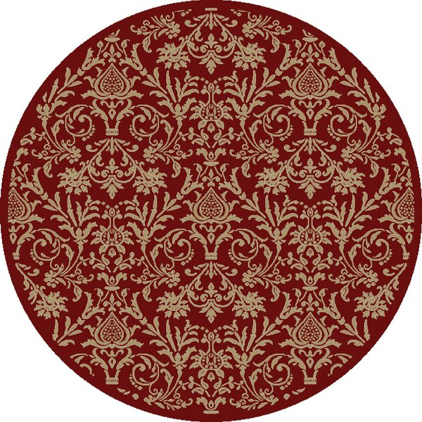 Jewel Damask Red Area Rug by Threadbind
