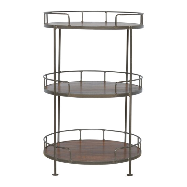 Crispin Industrial Round Butler Tray Table by 17 Stories