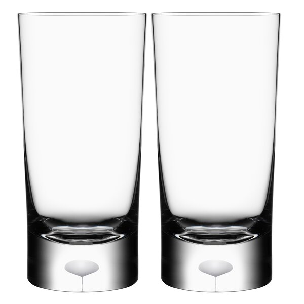 Intermezzo Satin 13 oz. Crystal Every Day Glass (Set of 2) by Orrefors