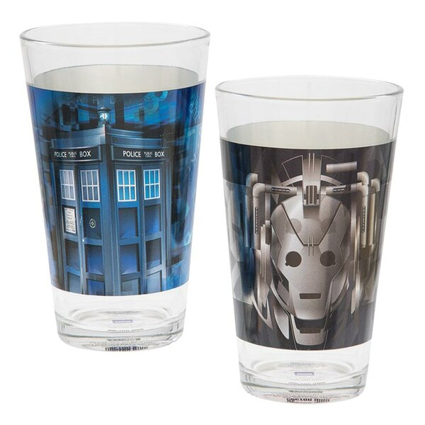 Doctor Who 2 Piece 16 oz. Glass Every Day Glass Set by Vandor LLC