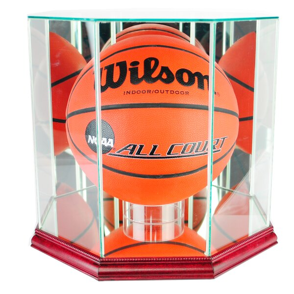 Octagon Basketball Display Case by Perfect Cases