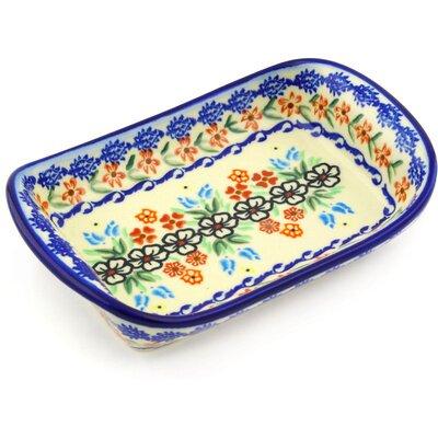 Polish Pottery 7 Rectangle Platter by Polmedia